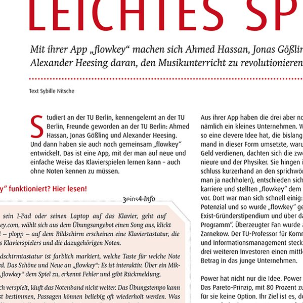 3eins4 | Magazin Design, Print, Druckgrafik, Layout