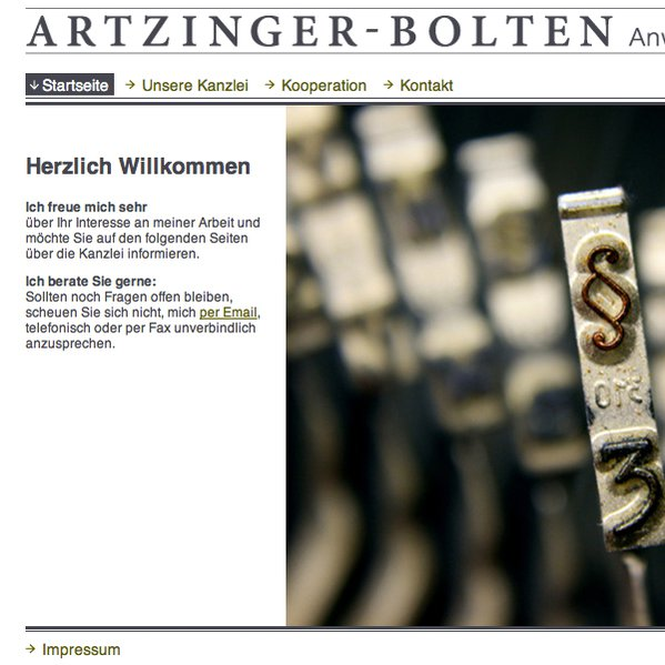 Artzinger-Bolten | Screendesign, Web Grafik