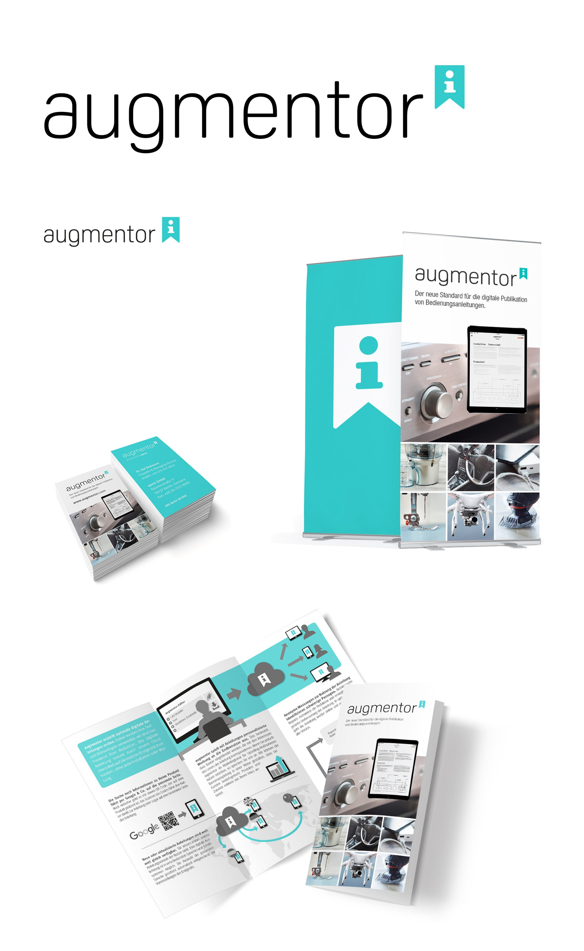 augmentor Berlin | Corporate Identity incl. Logodesign, Flyer und Visitenkarte