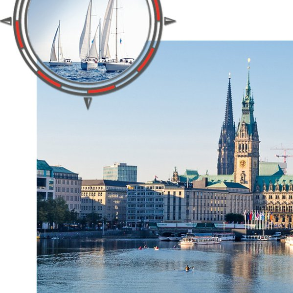 Hamburg City Sailing | Webdesign, Appgrafik