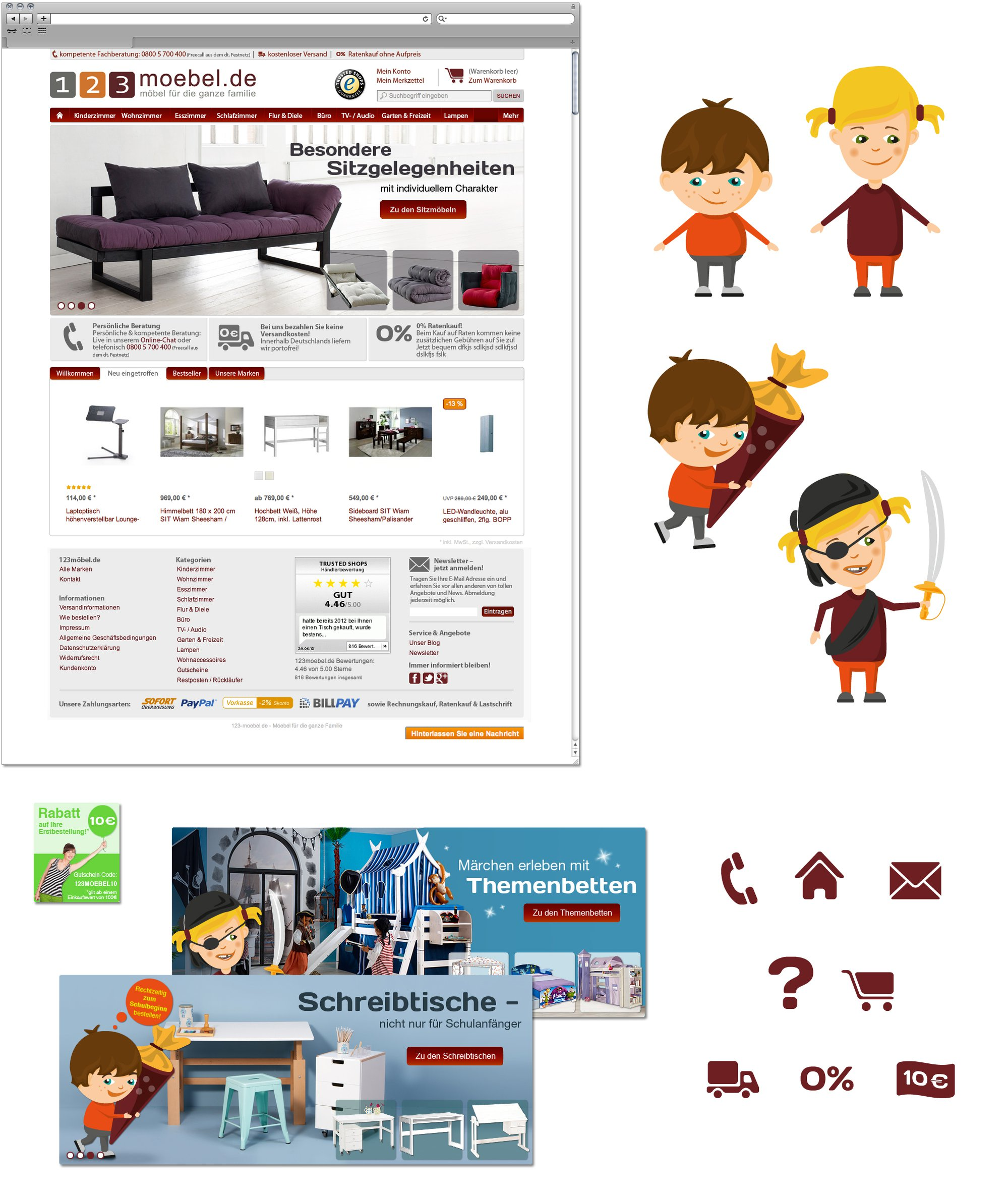 123moebel | Webdesign und Illustration